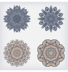 set decorative pattern vector image vector image