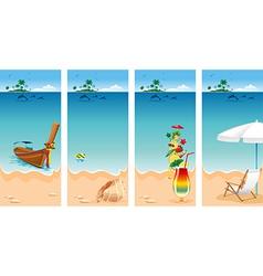 Vacation set vector image vector image