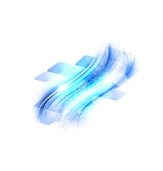 abstract shape squares wave blue vector image