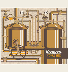 Banner with the brewery vector