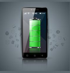 digital gadget battery smartphone tablet ico vector image