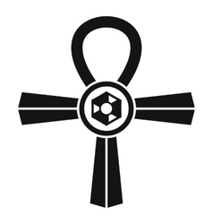 Egypt Ankh symbol icon simple style vector image