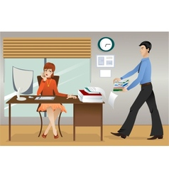 Office life vector image vector image