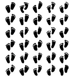 prints of baby feet vector image