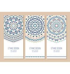Set of ethnic banners vector image