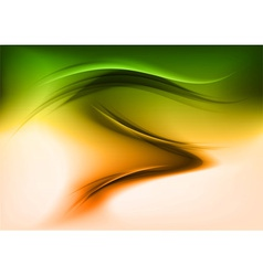 abstract smoke green orange vector image