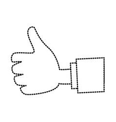 hand cartoon isolated vector image vector image
