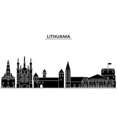 lithuania architecture city skyline travel vector image vector image