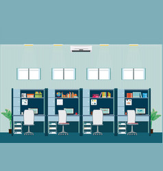 modern office interior with office desk vector image vector image