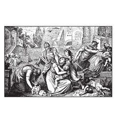 The slaughter of the innocents - herod has all of vector