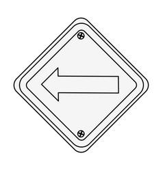 Traffic signal with left arrow vector