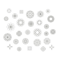 Vintage round patterns vector image