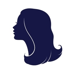 Woman face profile Female head silhouette vector image