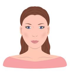 young girln face beautiful woman vector image