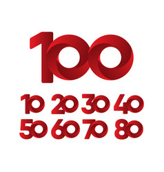 100 years anniversary celebration red template vector