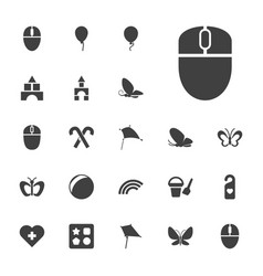 22 colorful icons vector