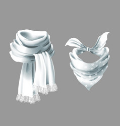 3d realistic red neck scarf neckerchief vector