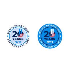 9-11 memorial patriot day badges - september 11 vector