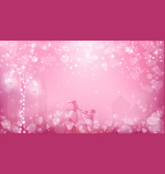Abstract valentines background as street view vector