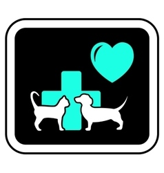 art veterinary sign vector image