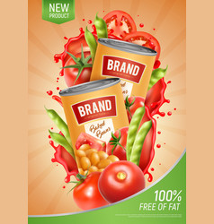 Baked beans poster vector