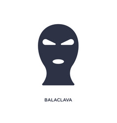 Balaclava icon on white background simple element vector
