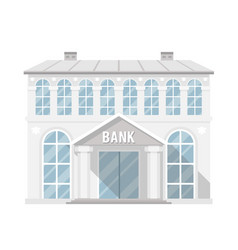 Bank building administrative commercial house flat vector