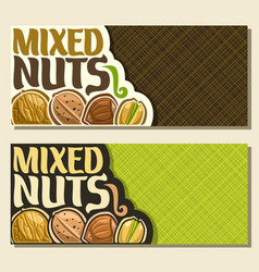 banners for nuts vector image
