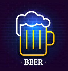 beer logo flat style vector image