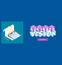Business vision banner vector