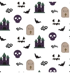 Cartoon spooky halloween seamless pattern vector image