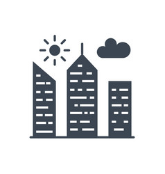city building glyph icon vector image