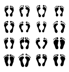 collection a imprint soles shoes vector image