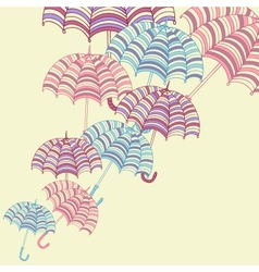 Cute umbrellas vector