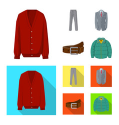 design of man and clothing sign set of man vector image