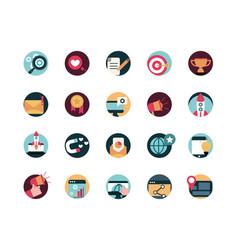 digital marketing advertising media icons set vector image