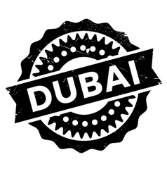 Dubai stamp rubber grunge vector image