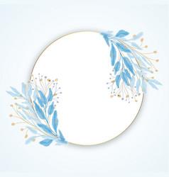 elegant hand painted floral border design vector image