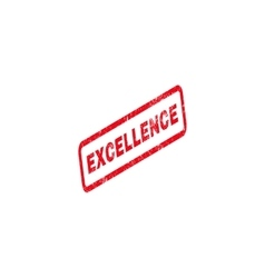 Excellence Text Rubber Stamp vector image