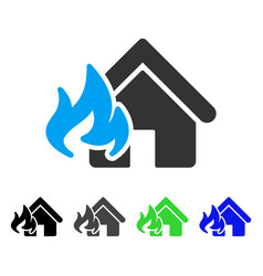 fire damage flat icon vector image