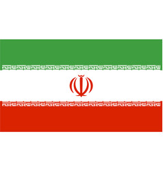 flag of iran in official rate and colors vector image