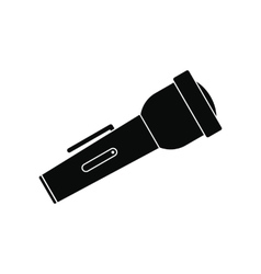 Flashlight black simple icon vector image