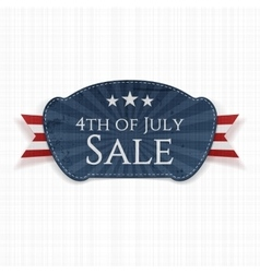 Fourth of July Sale Label vector image