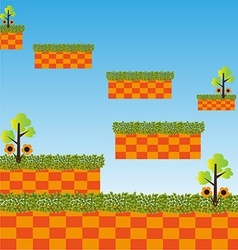 Game level landscape background vector