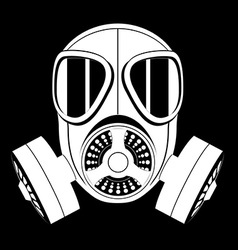 gas mask black and white 04 vector image