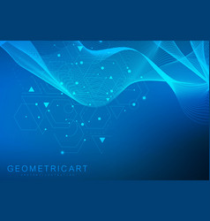 Geometric abstract background with connected line vector