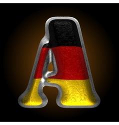 Germany metal figure a vector
