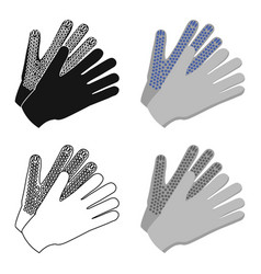 gloves icon of for web and vector image