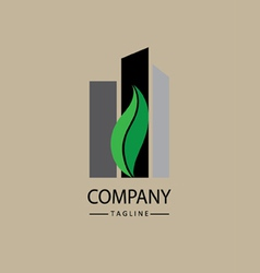 Green city logo vector