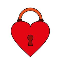 heart padlock flat vector image